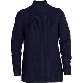 Icebreaker Hillock Funnel Neck Sweater Women, blauw